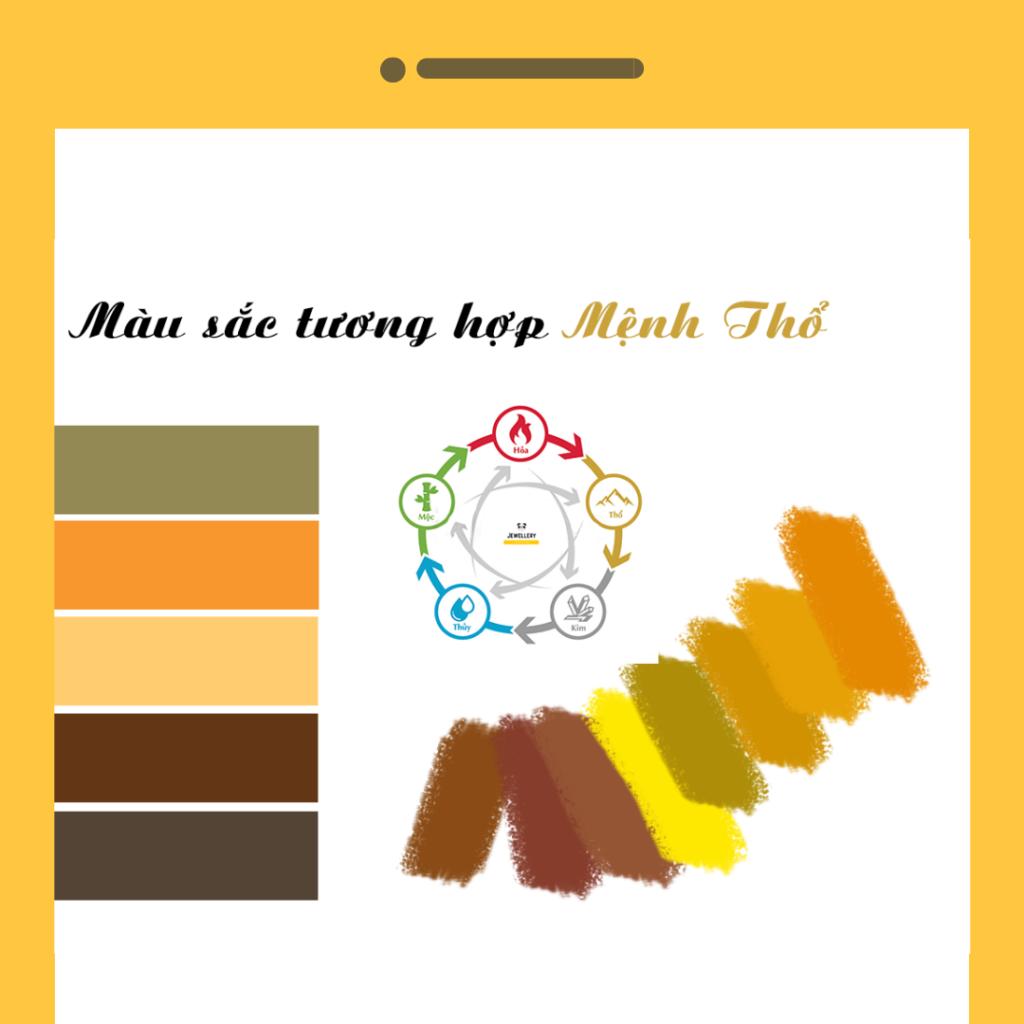 màu sắc hợp với mệnh thổ
